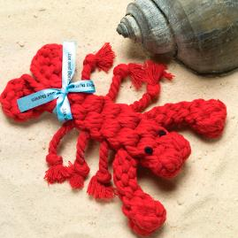 Louie the Lobster Dog Rope Toy