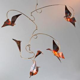 Copper Butterfly Mobile