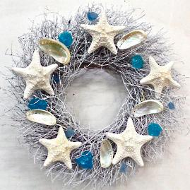 Ocean Shores Dried Wreath