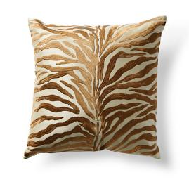 Embroidered Tigress Throw Pillow
