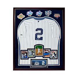 Framed Derek Jeter Autographed Jersey
