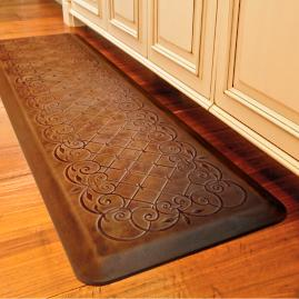 Trellis Scroll Anti-fatigue Kitchen Comfort Mat