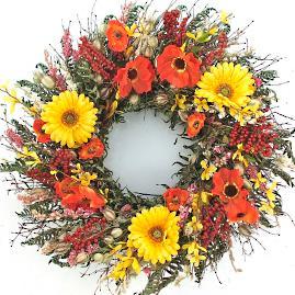 Orange Poppy Wreath
