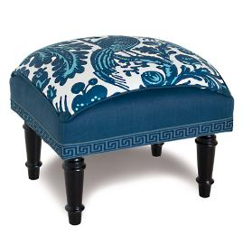 Haveford Bleu Footstool