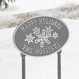 Holiday Snowflake Lawn Plaque