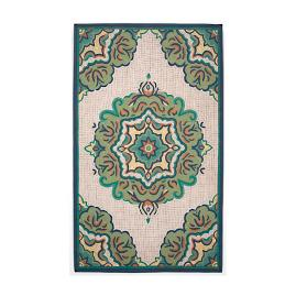 Mosaic Tile Medallion Lamontage™ One-of-a-Kind Outdoor Rug