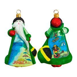 Glitterazzi International Jamaica Santa Ornament