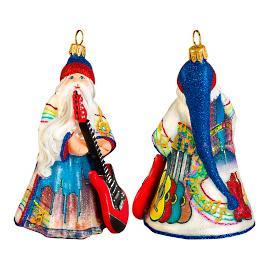 Glitterazzi International Nashville Santa Ornament
