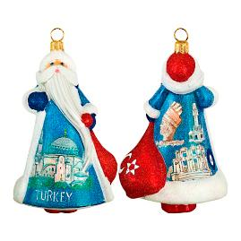 Glitterazzi International Turkey Santa Ornament