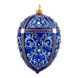 Glitterazzi International Cobalt Jeweled Egg Ornament