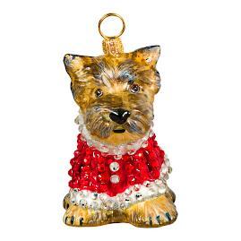 Diva Dog Yorkie in Crystal Coat Ornament