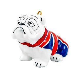 Union Jack Flag Bulldog Ornament