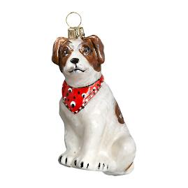 Jack Russell with Bandana Ornament
