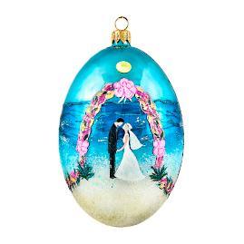 The Coastal Egg Ornament