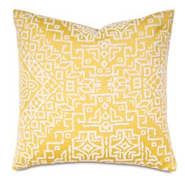 Coconut Grove Canary Decorative Pillow