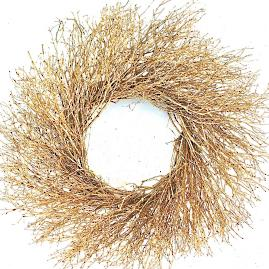 Metallic Twig Wreath