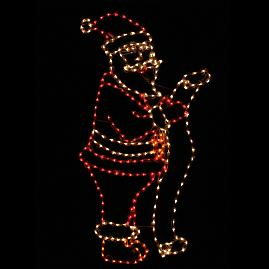Lighted Outdoor Santa 6-ft. Display