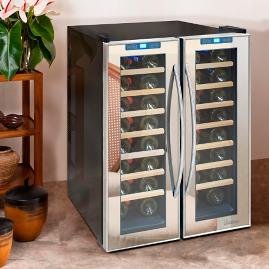 Vinotemp 48-Bottle Dual Zone Wine Refrigerator