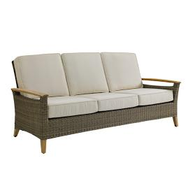 Pepper Marsh Sofa with Cushions by Gloster