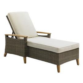 Pepper Marsh Chaise Lounge with Cushions by Gloster