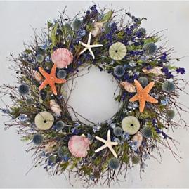 Neptune's Garden Dried Wreath