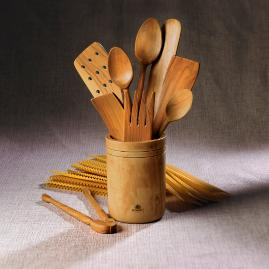 Olivewood Utensil Canister