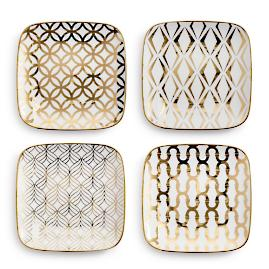 La Cite Rounded Square Plates, Set of Four