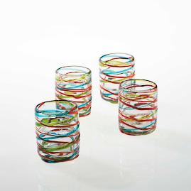 Margaritaville Swirl Old Fashioned, Set of Four Glasses