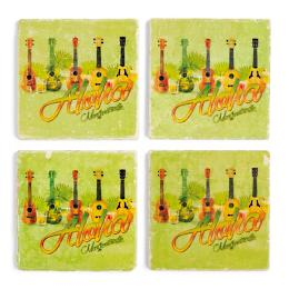 Margaritaville Marble Coasters, Set of Four