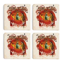 Margaritaville Bar Exam Marble Coasters, Set of Four