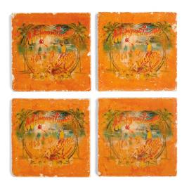 Margaritaville 5 O'clock Somewhere Marble Coasters, Set