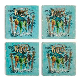 Margaritaville Phlock Marble Coasters, Set of Four