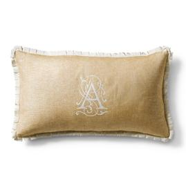 Capara Monogrammed Decorative Pillow