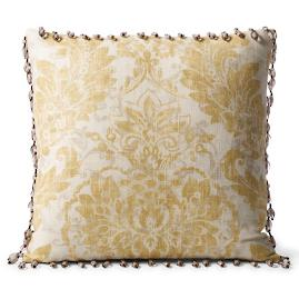 Capara Beaded Trim Decorative Pillow