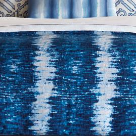 Indigo Ripple Decorative Pillow