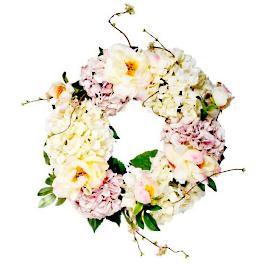 Garden Peony Wreath