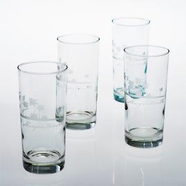 Margaritaville Etched Wine Glasses, Set of Four