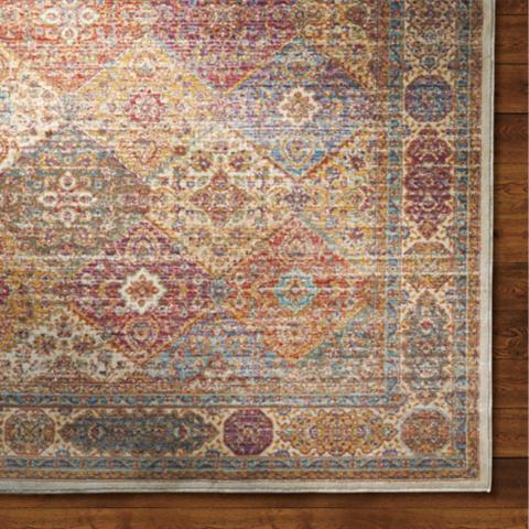 Great Moroccan Tile Viscose Area Rug