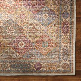 Moroccan Tile Viscose Area Rug