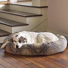 Ashton Patterned Donut Pet Bed