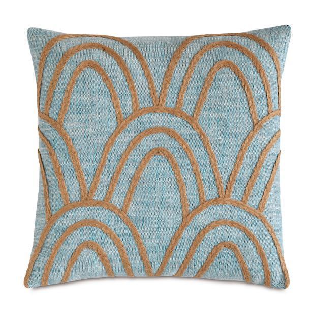 Badu Rope Applique Decorative Lumbar Pillow