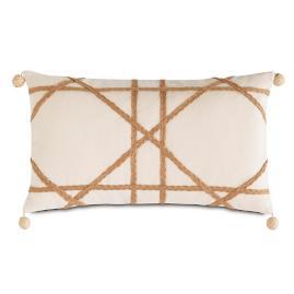 Badu Pom Pom Decorative Lumbar Pillow