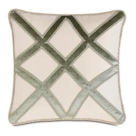 Ezra Trellis Applique Decorative Pillow