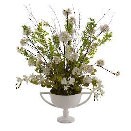 White Silver Floral Arrangement