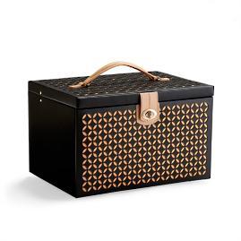 WOLF Chloe Large Laser Cut Leather Jewelry Box