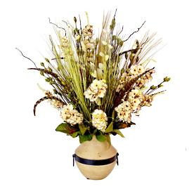Dried Bell Flowers and Mixed Floral Centerpiece