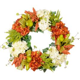 Lush Rust and Cream Fall Wreath