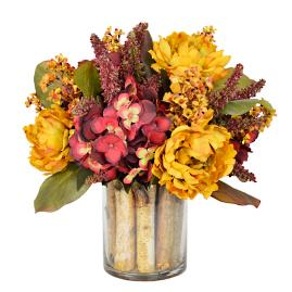 Birch Harvest Floral Centerpiece