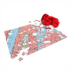 Merry Christmas Personalized Map Puzzle