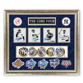 Yankees Core Four Signed Memorabilia
